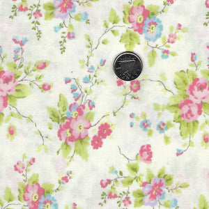 Finnegan by Brenda Riddle Designs for Moda - Linen Floral Bouquet