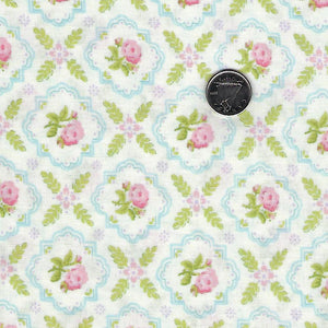 Finnegan by Brenda Riddle Designs for Moda - Linen Medallion Rose