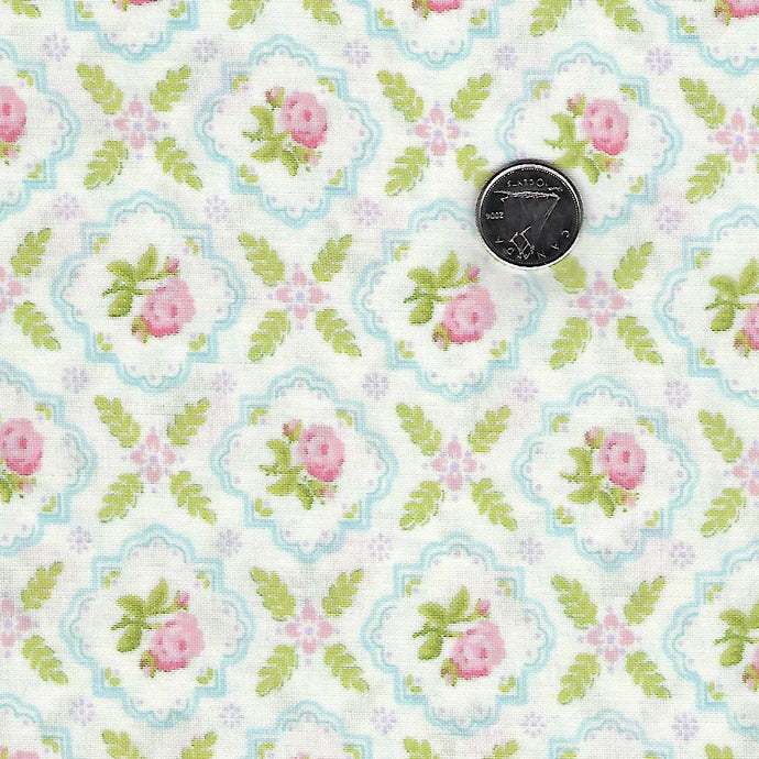 Finnegan by Brenda Riddle Designs for Moda Linen Medallion Rose