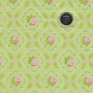 Finnegan by Brenda Riddle Designs for Moda - Sprout Medallion Rose