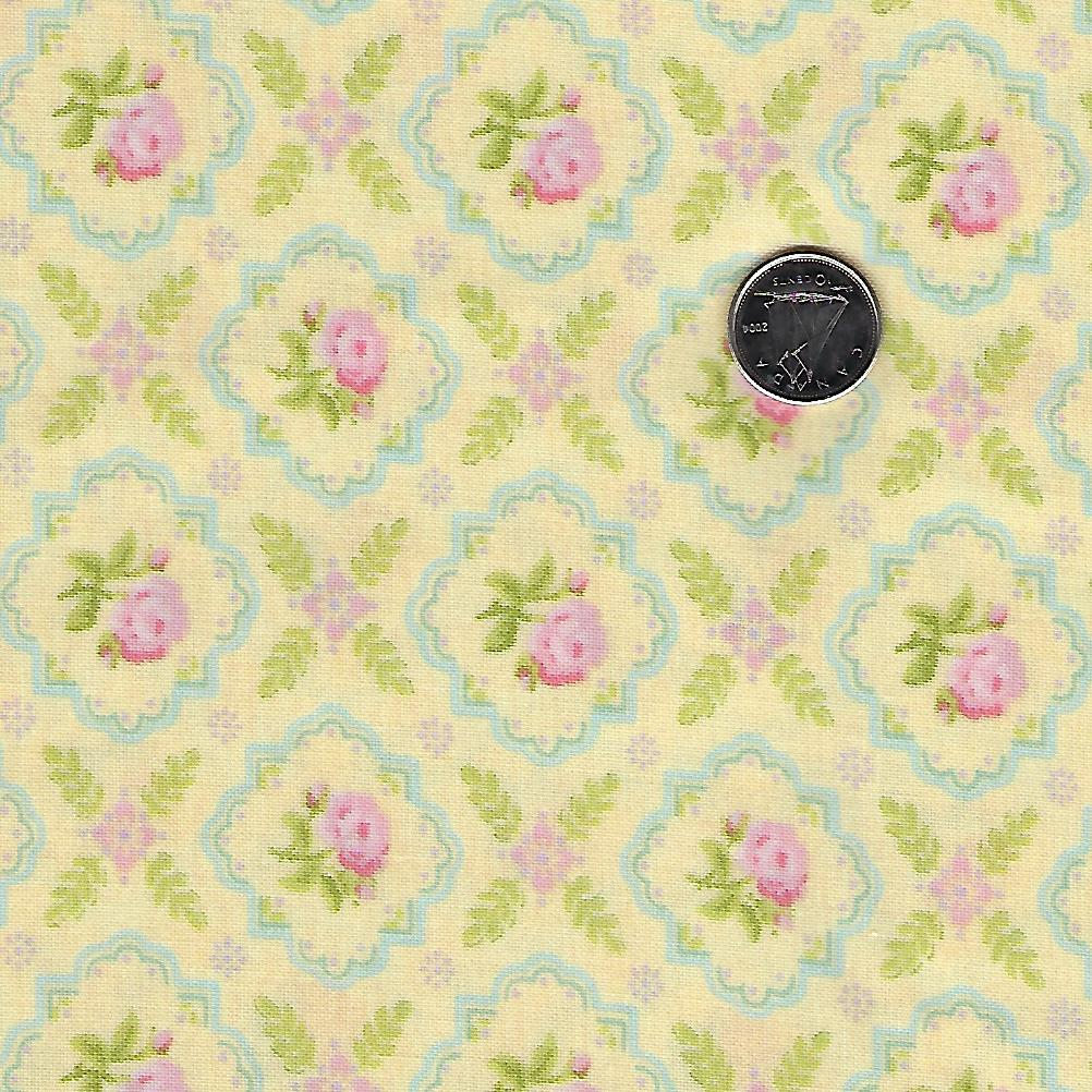 Finnegan by Brenda Riddle Designs for Moda - Sunny Medallion Rose