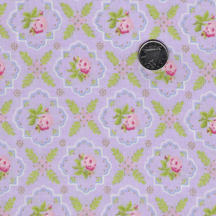 Finnegan by Brenda Riddle Designs for Moda Lilac Medallion Rose