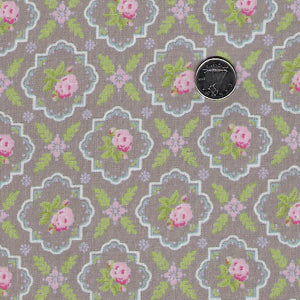 Finnegan by Brenda Riddle Designs for Moda - Pebble Medallion Rose