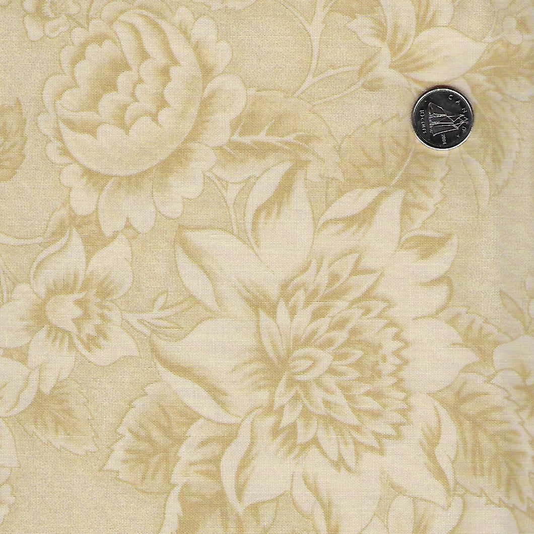 Sarah's Story 1830-1850 by Betsy Chutchian for Moda - Background Sweet Cream Floral Abundance