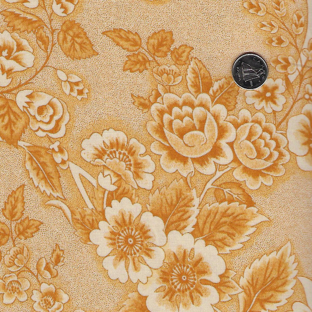 Sarah's Story 1830-1850 by Betsy Chutchian for Moda - Background Butter Floral Abundance