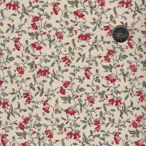 Sarah's Story 1830-1850 by Betsy Chutchian for Moda - Background Sweet Cream Delicate Vine