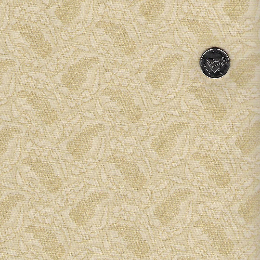 Sarah's Story 1830-1850 by Betsy Chutchian for Moda - Background Sweet Cream Fallen Leaves
