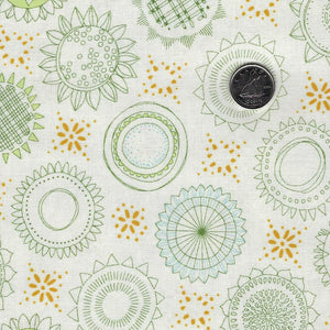 Solana by Robin Pickens for Moda - Background Cream Sunflower Medallions