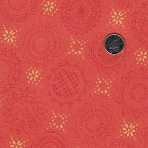 Solana by Robin Pickens for Moda - Background Clementine Sunflower Medallions