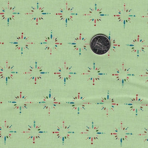 Happiness is Homemade by Kris Lammers for Maywood Studio - Background Green Starburst Sprinkles