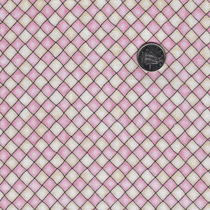 Happiness is Homemade by Kris Lammers for Maywood Studio - Background Pink Checkered