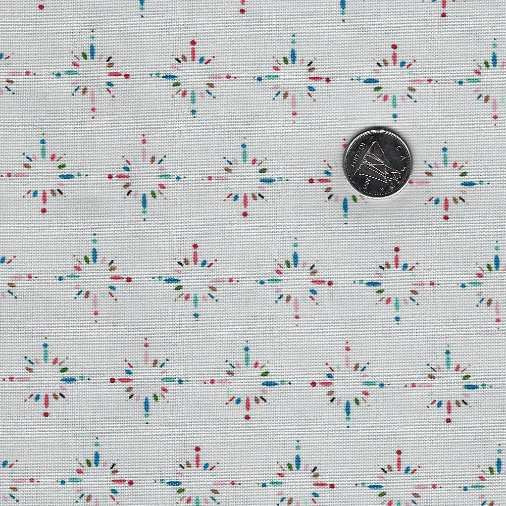 Happiness is Homemade by Kris Lammers for Maywood Studio - Background Grey Starburst Sprinkles