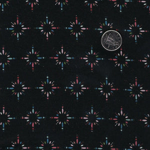 Happiness is Homemade by Kris Lammers for Maywood Studio - Background Black Starburst Sprinkles