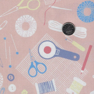 DIY by Amy Van Luijk for Figo Fabrics - Background Orange Sewing Tools