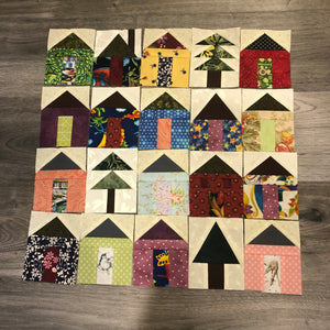Little House Blocks by Phyllis Moody for Mad Moody Quilting Fabrics - 4 Blocks
