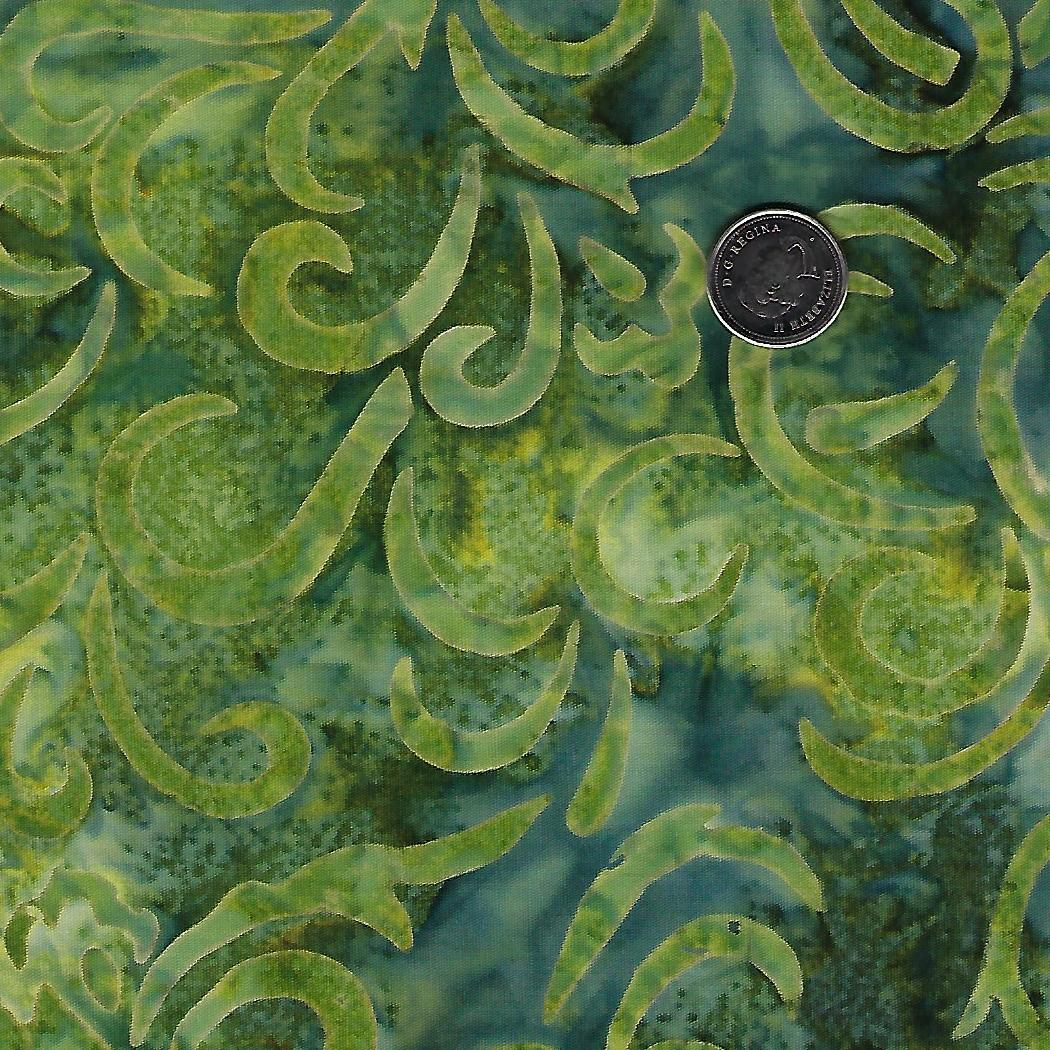 Batik Coastal Chic Green Swirl