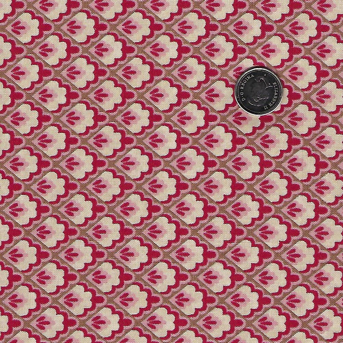 Chafarcani by French General for Moda - Pale Rose Checker Flowers
