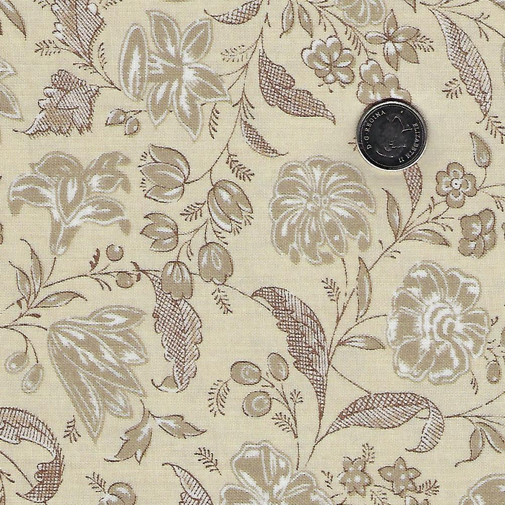 Chafarcani by French General for Moda - Roche Pearl Flowers and Leaves