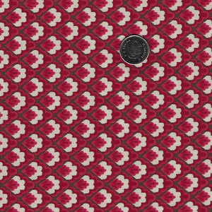 Chafarcani by French General for Moda - Rouge Checker Flowers
