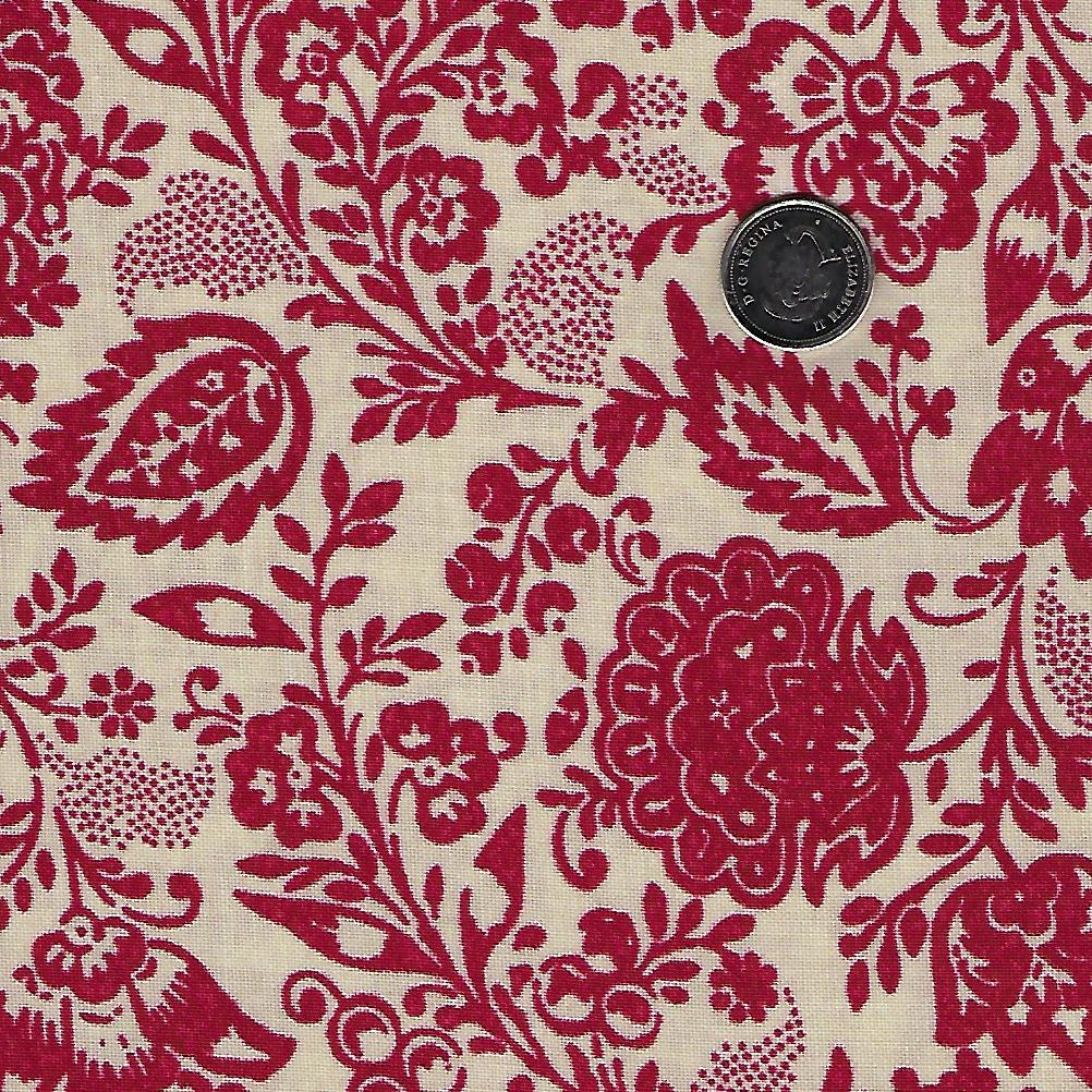 Chafarcani by French General for Moda - Rouge Pearl Floral