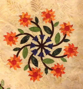 Polynesian Bouquet Block 3 Designed by Phyllis Moody