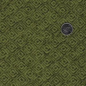 Heritage Woolies Flannel by Bonnie Sullivan for Maywood Studio - Green Tone on Tone Squares