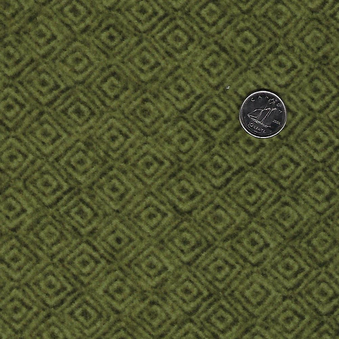 Heritage Woolies Flannel by Bonnie Sullivan for Maywood Studio - Tone on Tone Green Squares