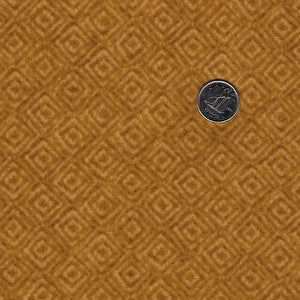 Heritage Woolies Flannel by Bonnie Sullivan for Maywood Studio - Gold Tone on Tone Squares