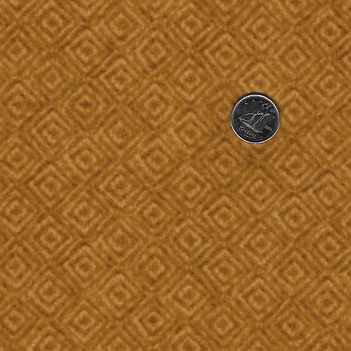 Heritage Woolies Flannel by Bonnie Sullivan for Maywood Studio - Tone on Tone Gold Squares