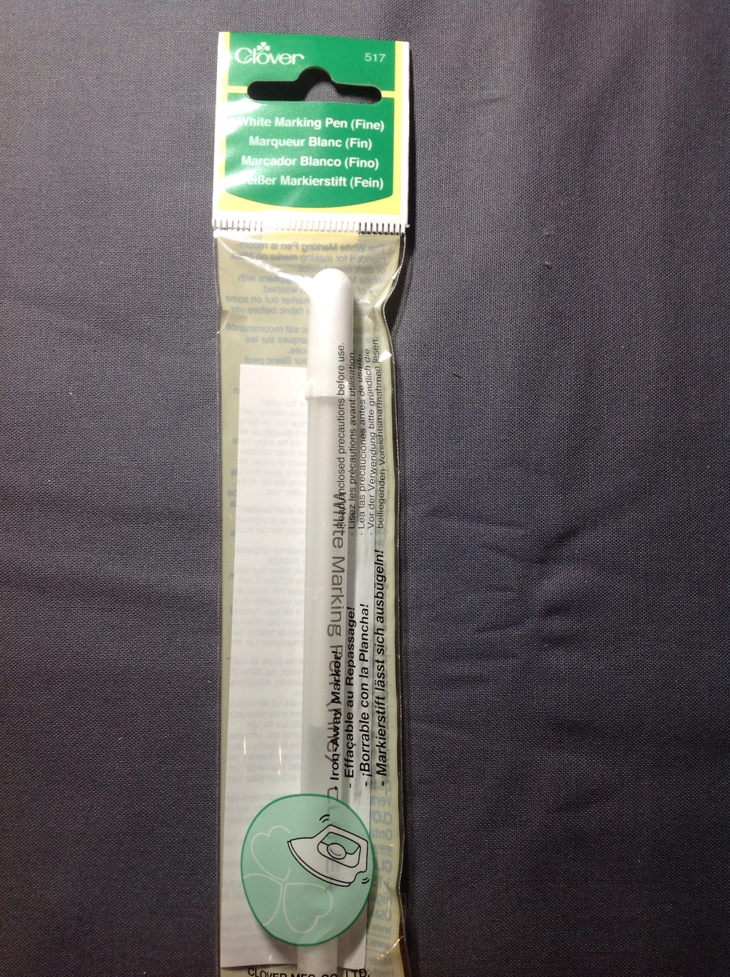 Clover White Marking Pen (fine) Iron Away Marks