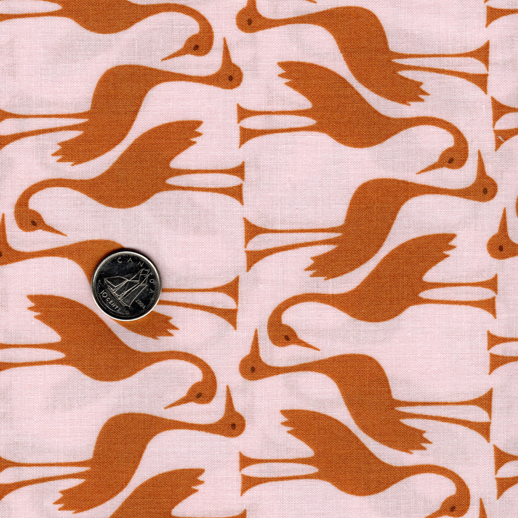 Pond by Elizabeth Hartman for Robert Kaufman - Gold Birds
