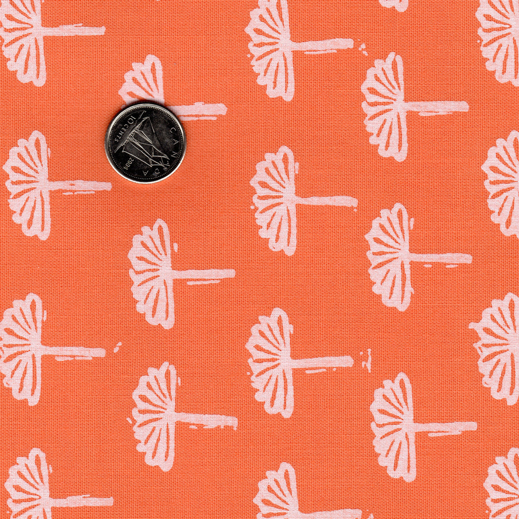 Blueberry Park by Robert Kaufman Printed Kona Cotton Mango Orange