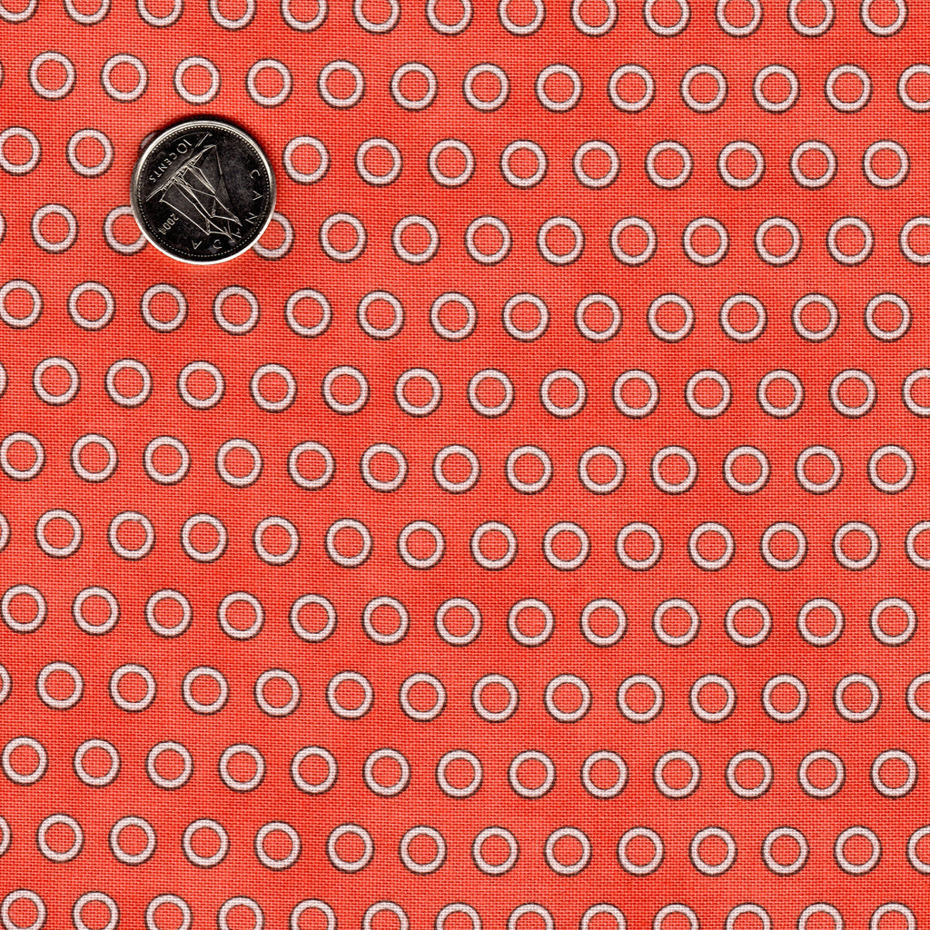 Mighty Machine by Lydia Nelson for Moda Reddish Background Coral Tires