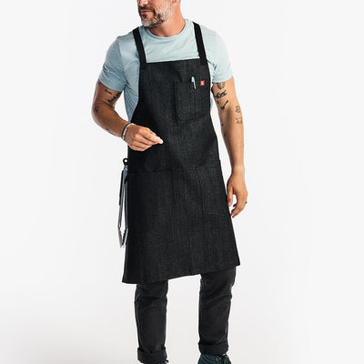 The All Day Crossback Apron - Abalone