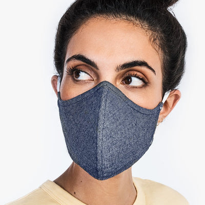 '-Wake Up & Fight Mask - Gray Oxford-CUBREBOCAS