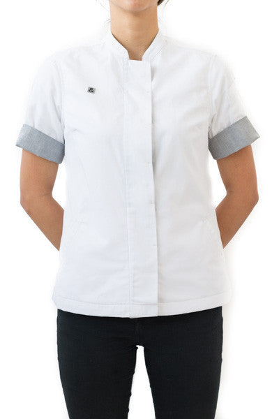 MS. MARLIN - WHITE- Women's Chef Coat 2.0 TALLA XS