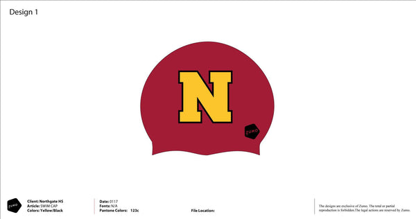 Northgate HS Swim Team Latex Swim Caps