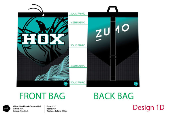 HOX Blackhawk Swim Team Custom Mesh Gear Bag (Custom Name Option)