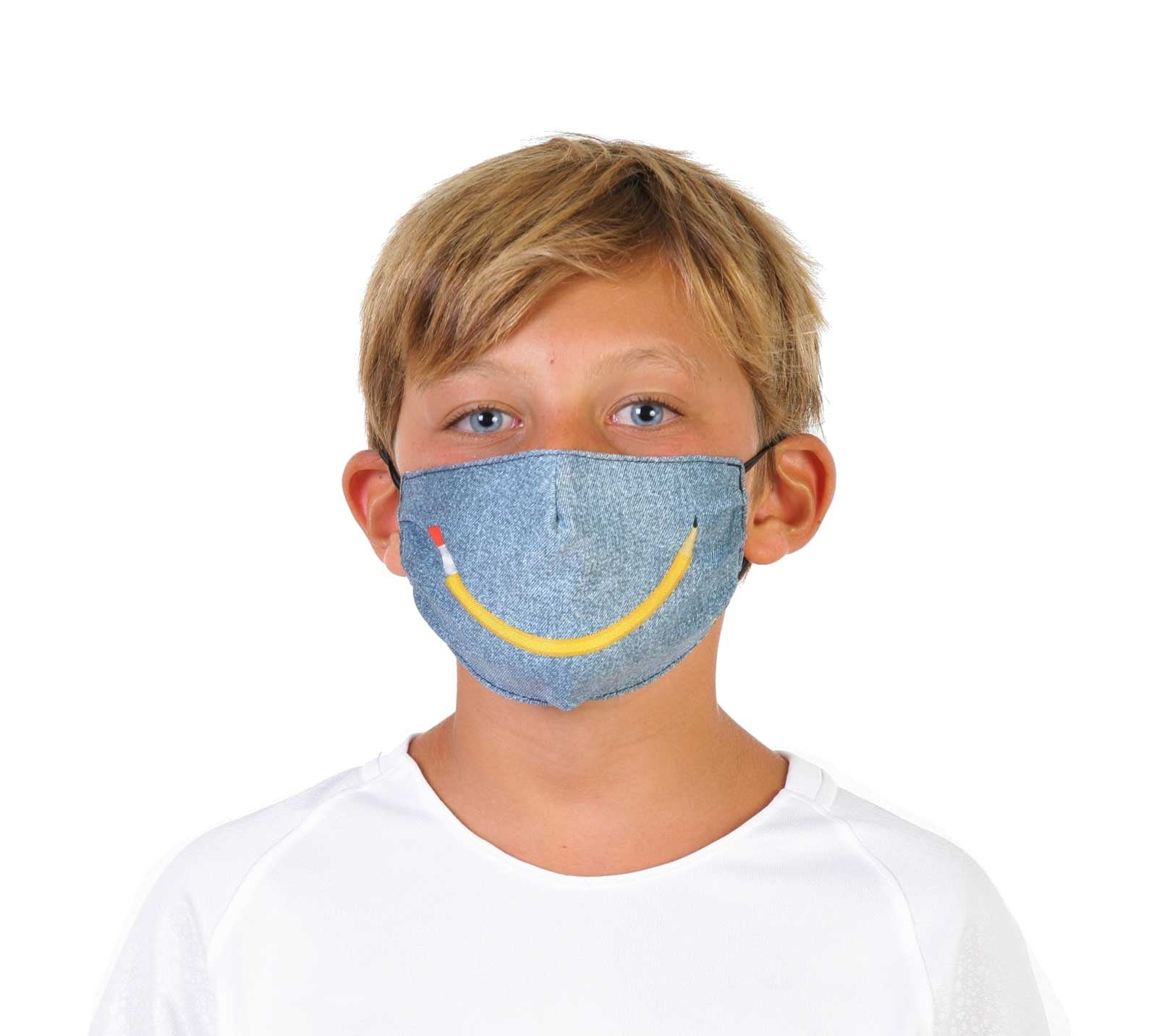 Denim Smile - Face Mask