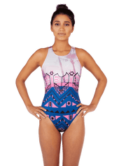 Aztec Palm Women's Euro Water Polo Suit - Zumo