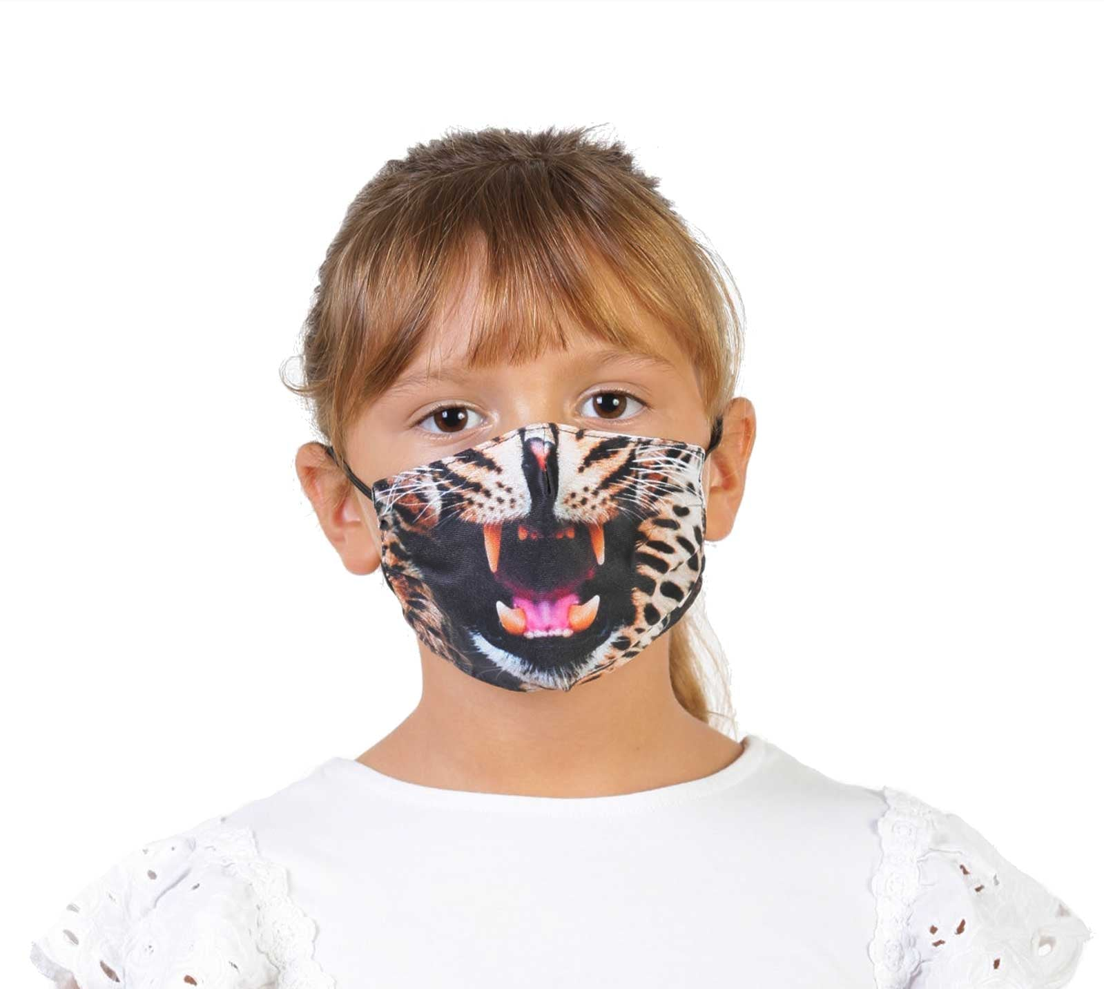 Growling Leopard - Face Mask