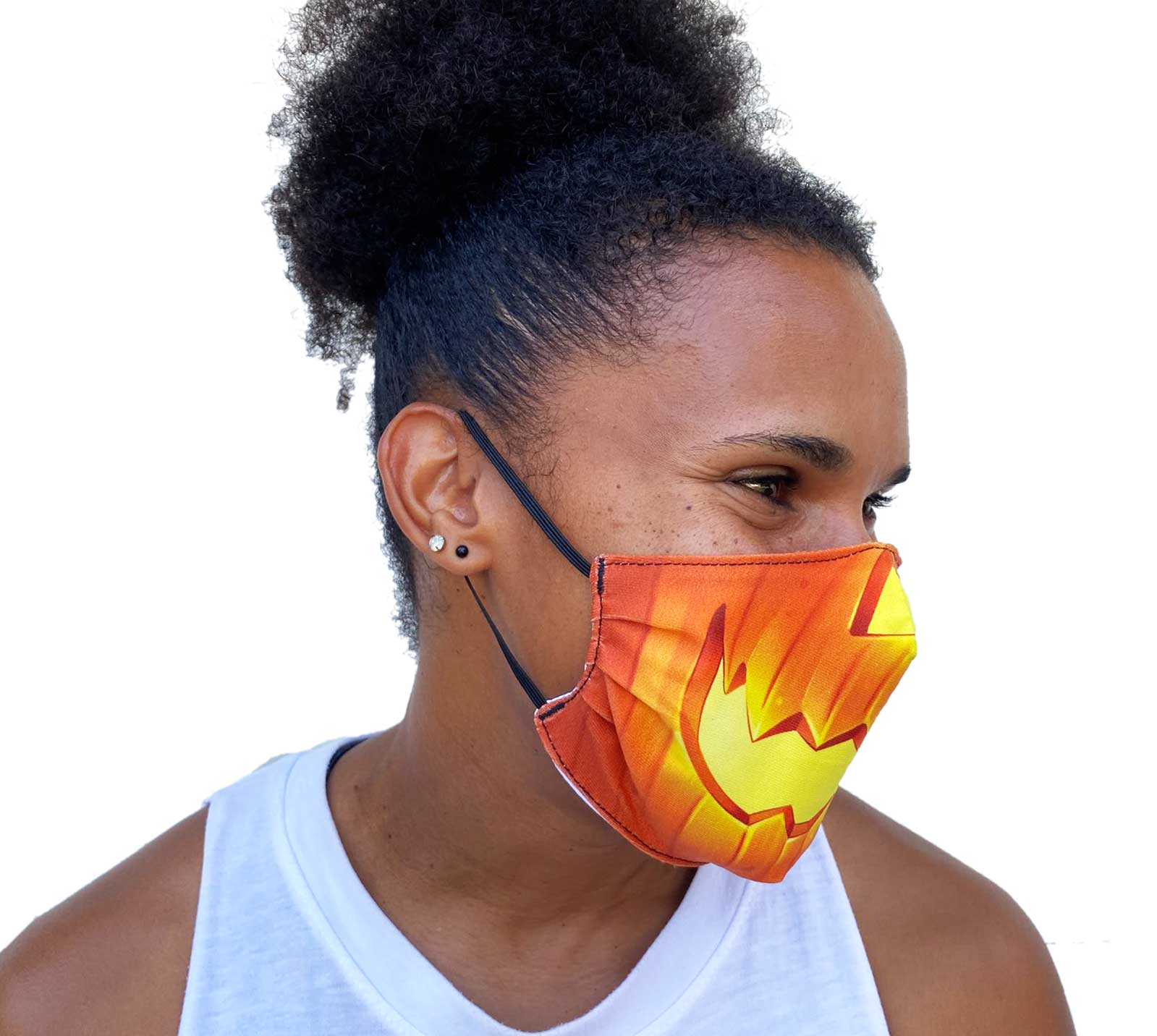 ZUMO Pumpkin Face Mask