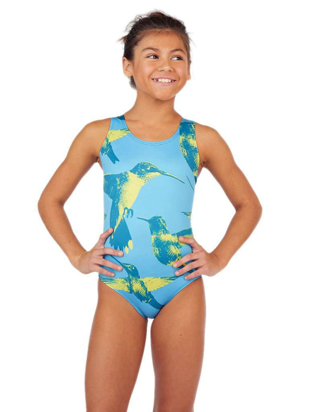 Humming Along Girls Classic Racer - Aqua Blue