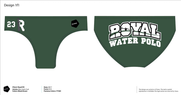 Royal High Junior Varsity Water Polo Suit