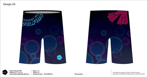 Pleasant Hill Dolfins Men's Jammer