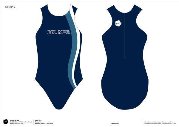 Del Mar WP Club Women's Classic Water Polo Suit