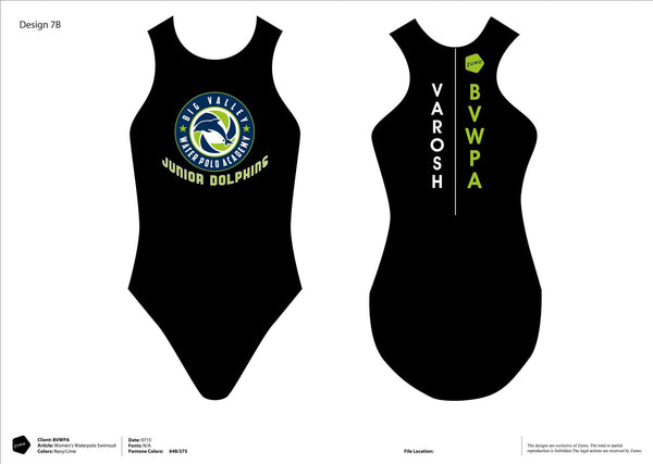 Big Valley WPA JR. DOLPHINS Water Polo Suit (Custom Name Option)
