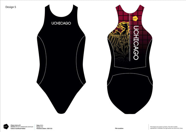 University of Chicago Water Polo Women's Classic Water Polo Suit