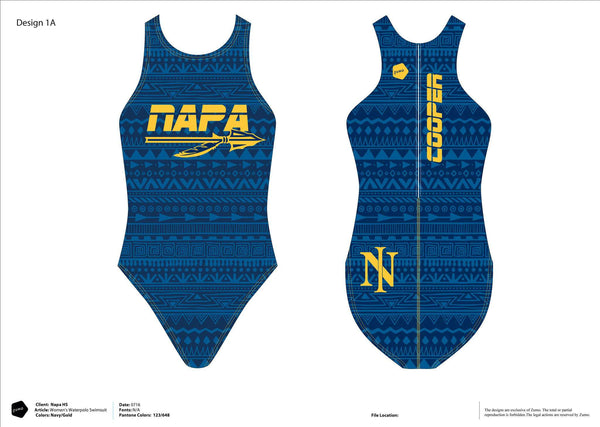 Napa HS Water Polo Women's Classic Water Polo Suit (Custom Name Option)