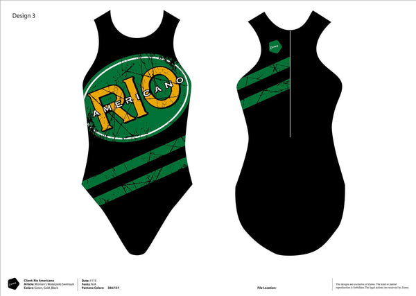 Rio Americano HS GWP Women's Original Water Polo Suit